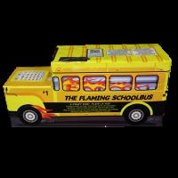 Flaming School Bus